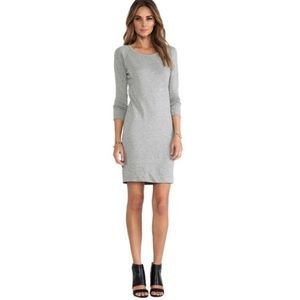 James Perse gray casual short sweatshirt dress
